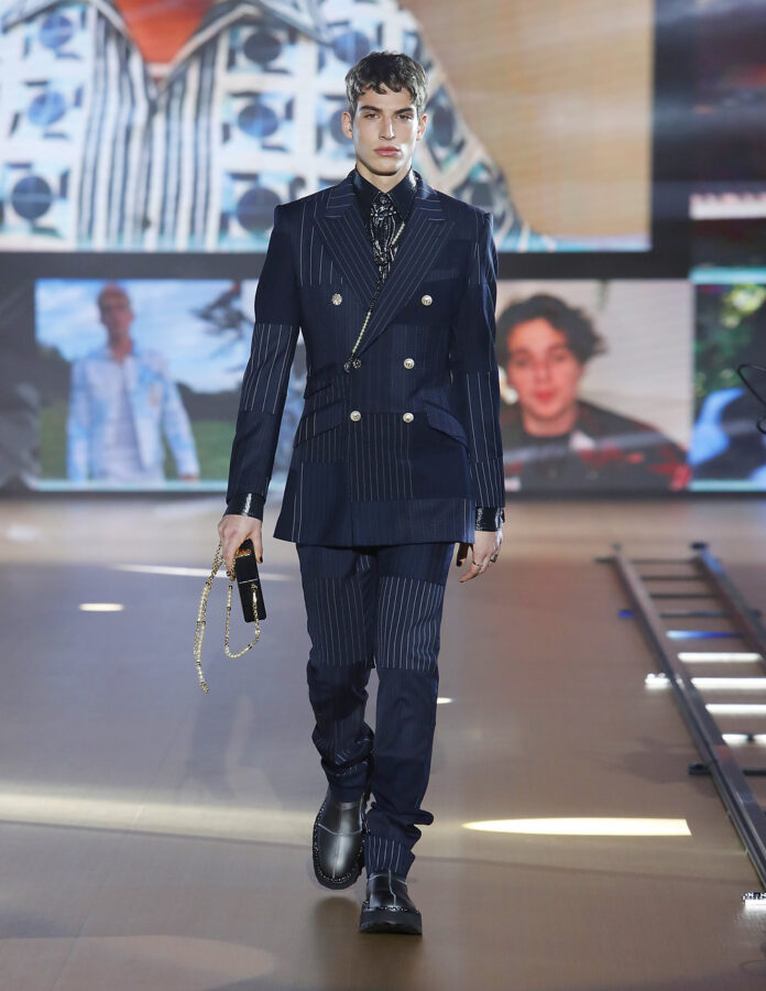 Lead make-up for Dolce & Gabbana MEN FW21